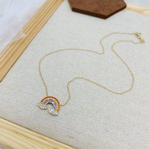 Tory Burch Shiny Rainbow Necklace